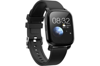Bluetooth V5.0 Smart Watch Gps Track Heart Rate Blood Pressure 1.3&Quot; - Black