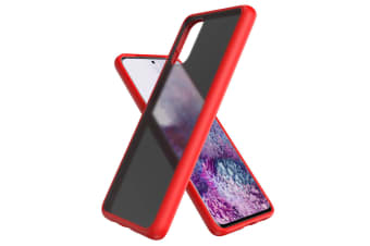 ZUSLAB Galaxy S20 4G 5G Slim Hybird Case Shockproof Translucent Protective Cover for Samsung - Matte Red
