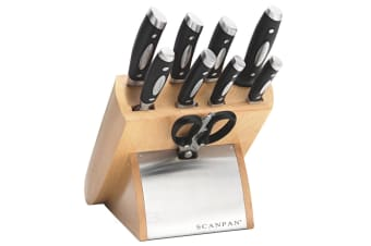 NEW 18173 SCANPAN CLASSIC EURO 10PC KNIFE BLOCK SET 10 PIECE