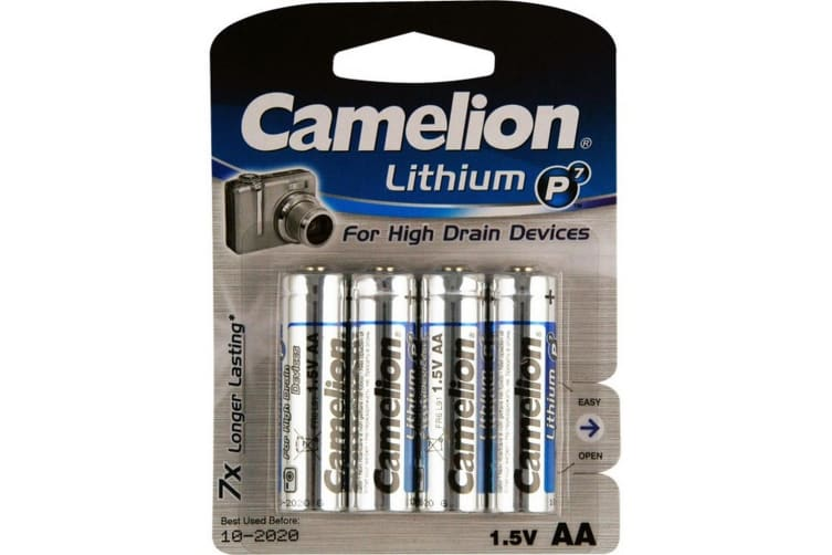 AA Lithium Battery - 4 Pack Camelion
