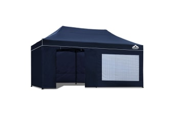 3x6 Pop Up Gazebo Hut with Sandbags (Navy)