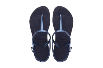 Havaianas Freedom SL Thongs (Navy Blue, Size 37/38 BR)