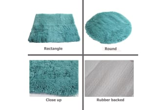 LONG HAIR Floor Rug Teal Rectangle