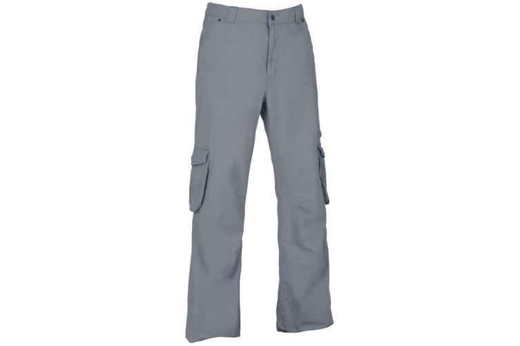 Trespass Mens Perivale Canvas Trousers (Shark) (M)