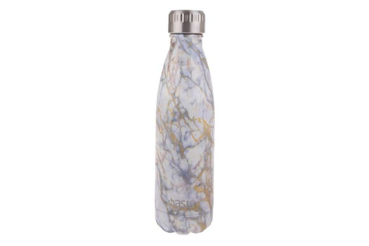 Oasis Stainless Steel Double Wall Insulated Drink Bottle 500ml Gold Quartz