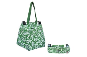 Sachi Shopping Reusable Toggle Grocery Hand Bag for Cart Trolley Bohemian Green