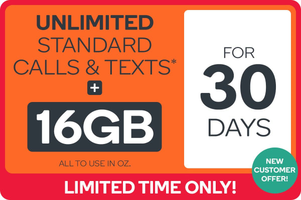 Kogan Mobile Prepaid Voucher Code: EXTRA LARGE (30 Days | 16GB) - NEW CUSTOMERS ONLY