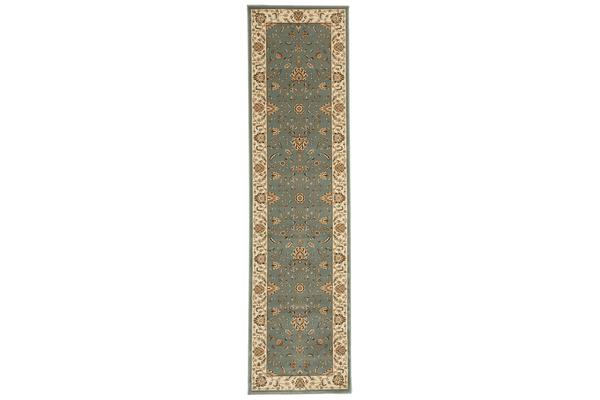 Stunning Formal Classic Design Rug Blue 300x80cm