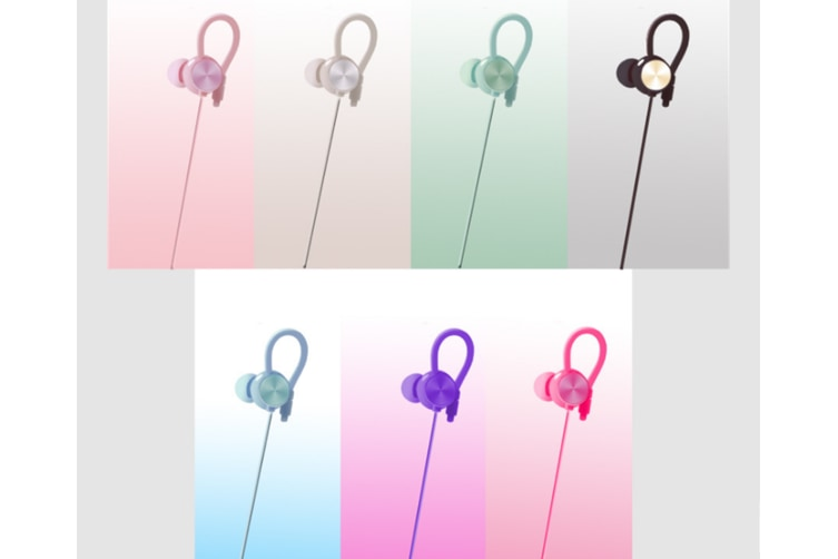 Stereo Input Earplug With Microphone Wire-Controlled Earphone Red