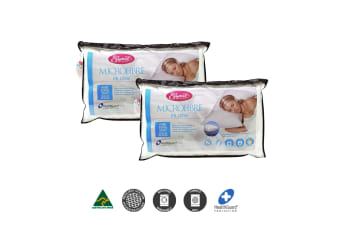 Two Microfibre Standard Gusseted Pillows
