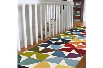 Flat Weave Fun Multi Coloured Rug 400x80cm