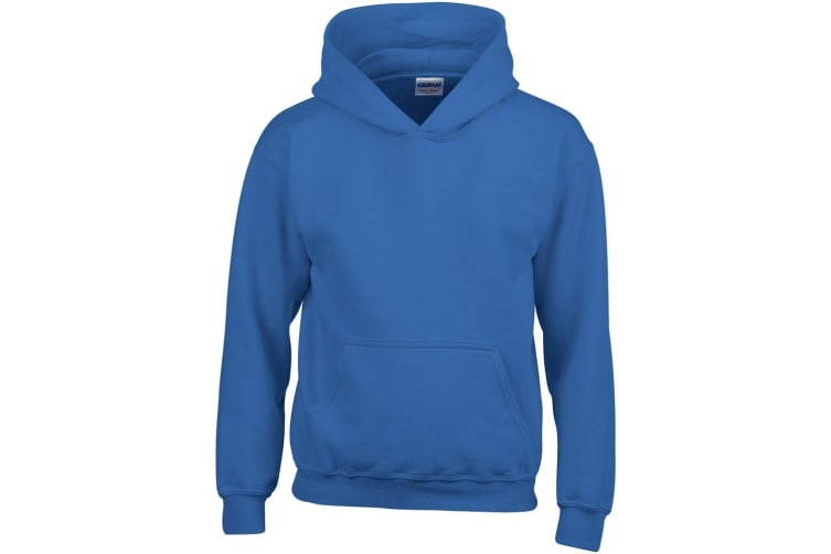Gildan Heavy Blend Childrens Unisex Hooded Sweatshirt Top / Hoodie (Royal) (M)