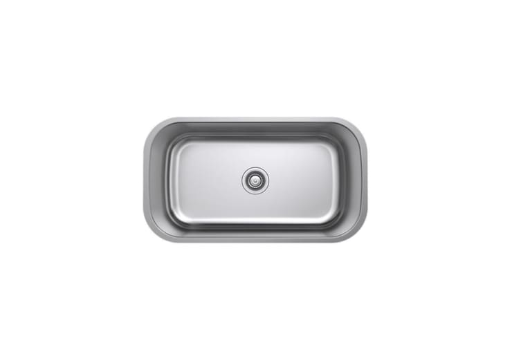 Argent Tempo Kitchen Sink Mega Bowl 74L with No Tap Hole- Stainless Steel KS3080100