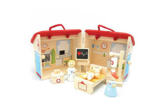 Wooden Hospital Playset - Kaper Kidz