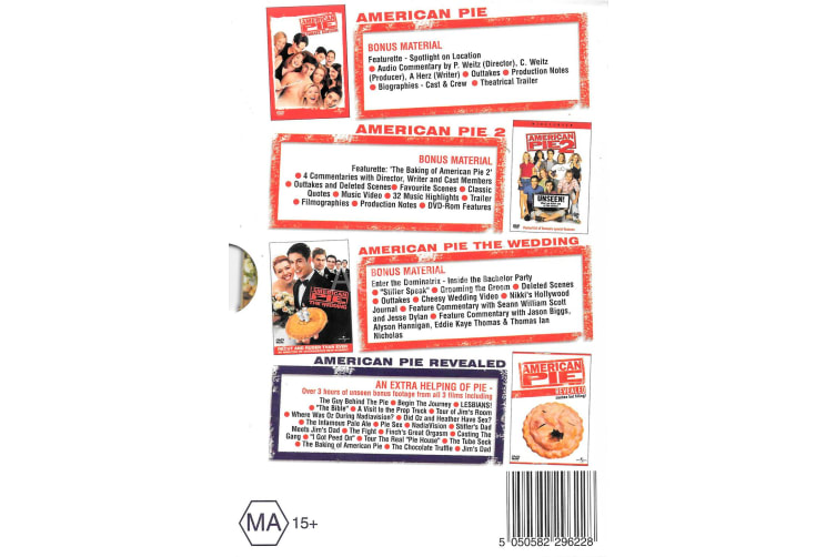 American Pie The Threesome -Comedy Series Region All Rare- Aus Stock Preowned DVD: DISC LIKE NEW