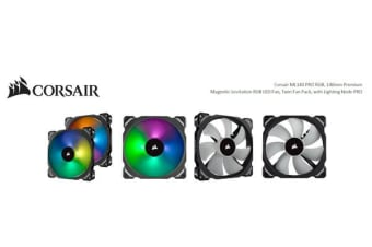 Corsair ML140 PRO RGB 2 Fan Pack with Lighting Node Pro, 140mm Premium Magnetic Levitation RGB LED PWM Fan