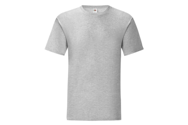 Fruit Of The Loom Mens Iconic T-Shirt (Heather Grey) (XL)