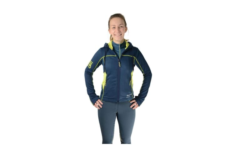 HyFASHION Womens/Ladies 80 Sports Hoodie (Blueberry/Lime Green) (XS)