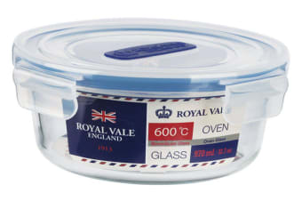 Royal Vale Glass Round Container 970ml