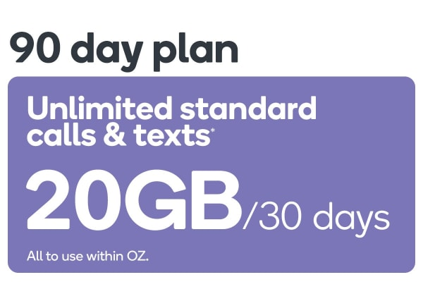 Kogan Mobile Prepaid Voucher Code: LARGE (90 Days | 20GB Per 30 Days)