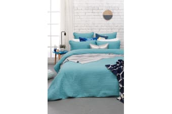 Bambury Maxwell Quilt Cover Set - Quilted Cotton Polyester Fill - Queen