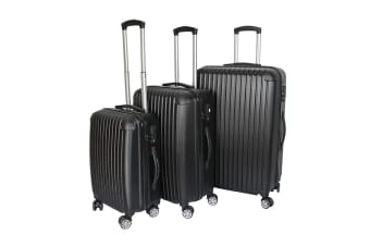 Milano Slimline 3 piece Luggage Set (Black)