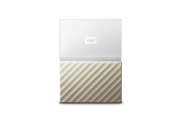WD My Passport Ultra 1TB Portable Hard Drive - Gold (WDBTLG0010BGD-WESN)