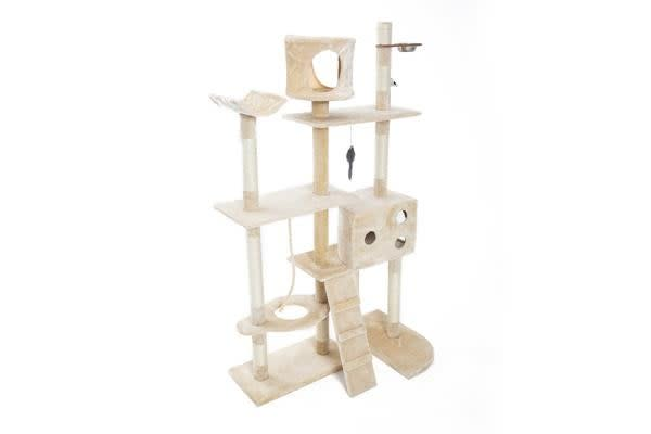 Cat Tree Scratcher DANIE 170 cm - BEIGE