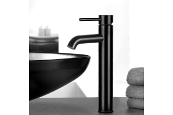 Cefito Mixer Tap Bathroom Taps Faucet Basin Vanity Sink Tall Brass WELS Black