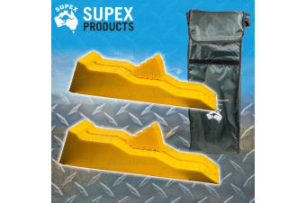 SUPEX SINGLE AXLE LEVEL LEVELLING RAMPS CHOCKS BAG KIT PACK CARAVAN CAMPER WHEEL