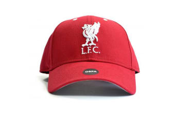 Liverpool FC Liverbird Crested Baseball Cap (Red) (One Size)
