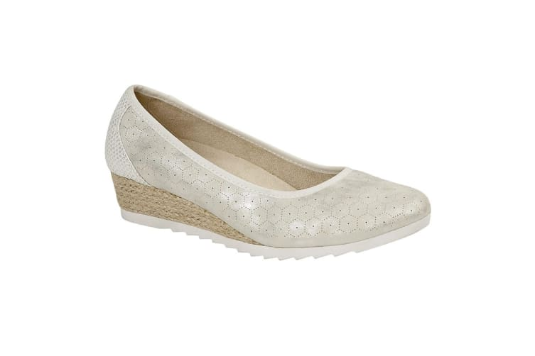 Cipriata Womens/Ladies Benedetta Shoes (Light Silver Metallic) (5 UK)