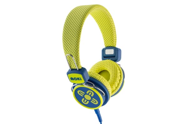 Moki Kids Safe Over Ear Headphones - Yellow/Blue (ACCHPKSYB)