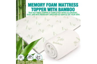 4cm Width Cool Gel Memory Foam Mattress Topper with Bamboo Fabric Cover Single Size