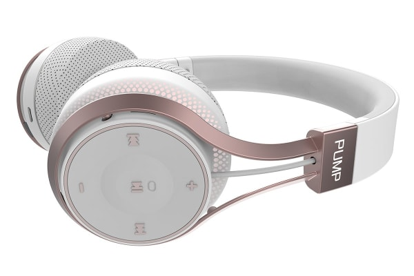BlueAnt Pump SOUL Wireless Sports On Ear HD Headphones - White/Rose Gold