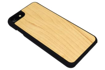 For iPhone 8 7 Case Stylish High-Quality Maple Wooden Protective Cover Black