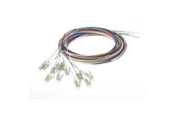 Fibre Pigtail Lc Om4 Multimode 2m - 12 Pack Rainbow