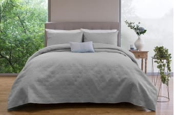 Ardor Boudoir Winslow Embossed Coverlet Set (Grey)