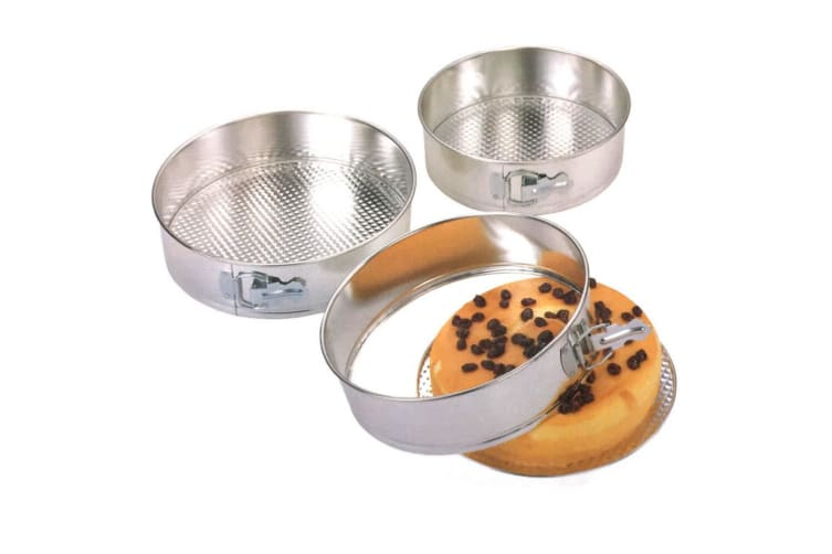 3PK 24/25/26cm Springform Cake Pan Baking Tray Round Mould Set w/Removable Base