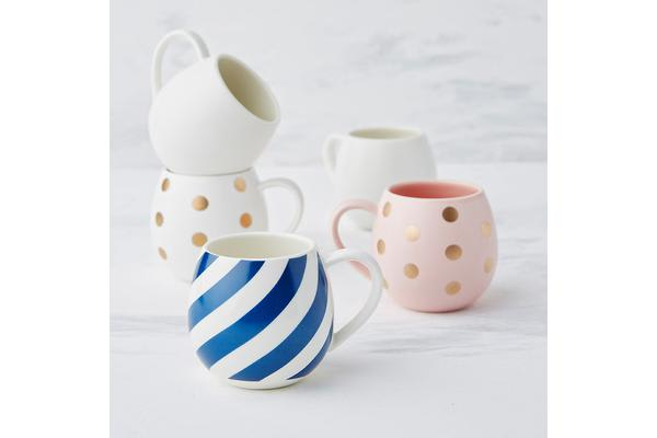 Robert Gordon Mini Hug Me Mug Blue Stripe
