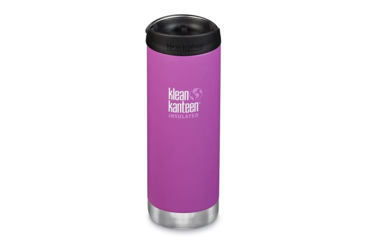 Klean Kanteen TKWide 16oz (with Cafe Cap) Berry Bright