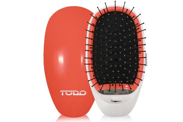 Ionic Straightening Styling Hair Brush Instant Smooth Silky Hair Stainless Steel Peach