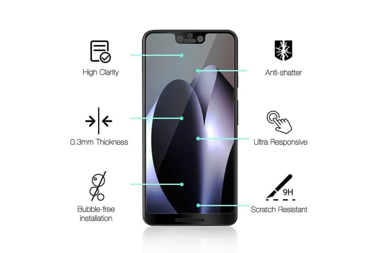 For Google Pixel 3 XL 3D Full Screen Tempered Glass Screen Protector iCoverLover