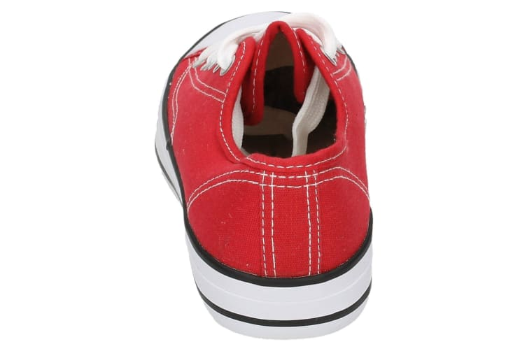 Spot On Childrens/Kids Low Cut Canvas Lace Up Shoes (Red) (3 UK)