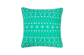 Bambury Nomad Cushion - 43 x 43cm - Filled - Lagoon