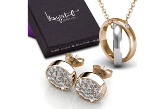 Boxed Necklace And Earrings Set Embellished with Swarovski crystals