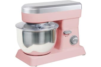 TODO 1200W 6.2L Retro Electric Stand Mixer - Pink