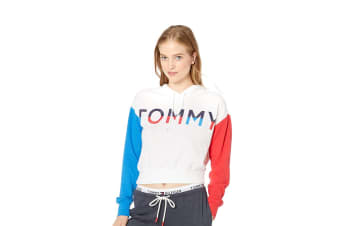 Tommy Hilfiger Women's Lounge Crop Hoodie (Bright White)