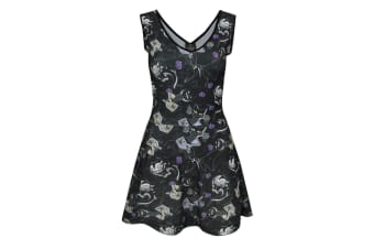 Nightmare Before Christmas Womens/Ladies Vampire Teddy Dress (Black)