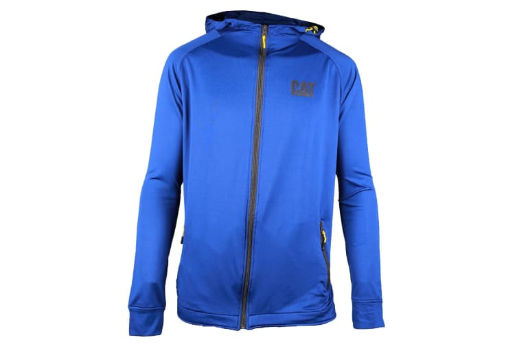 Caterpillar Mens Contoured Zip Up Jacket (Blue) (XXL)